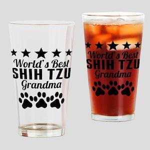 World's Best Shih Tzu Grandma Drinking Glass