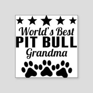 World's Best Pit Bull Grandma Sticker