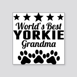 World's Best Yorkie Grandma Sticker