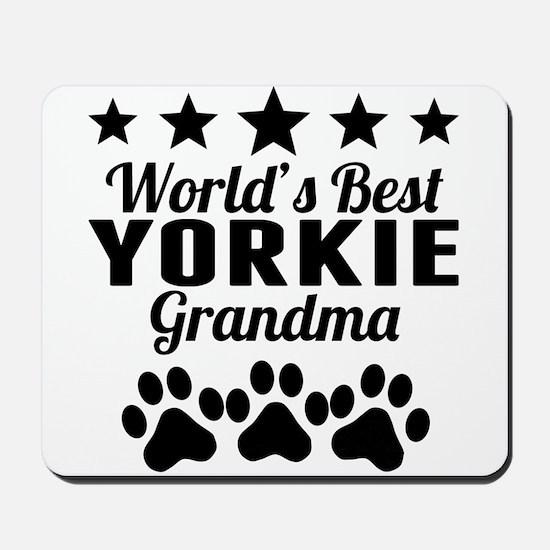 World's Best Yorkie Grandma Mousepad