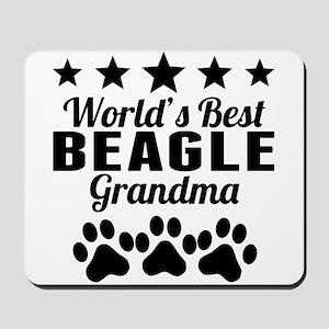 World's Best Beagle Grandma Mousepad