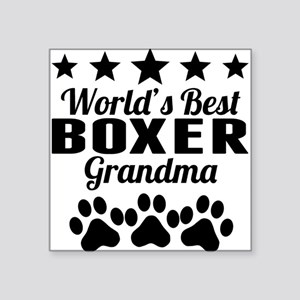 World's Best Boxer Grandma Sticker