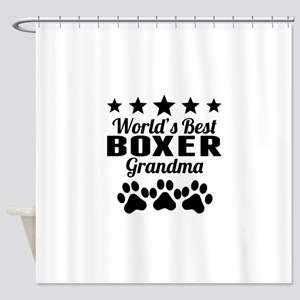 World's Best Boxer Grandma Shower Curtain