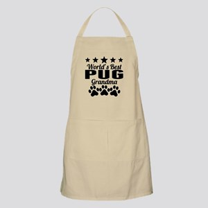 World's Best Pug Grandma Apron