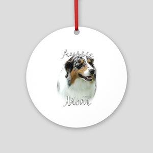 Aussie Mom2 Ornament (Round)