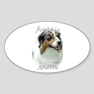 Aussie Mom2 Oval Sticker