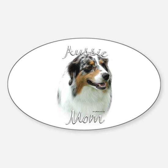 Aussie Mom2 Oval Decal