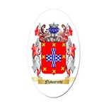 Navarrete Oval Car Magnet