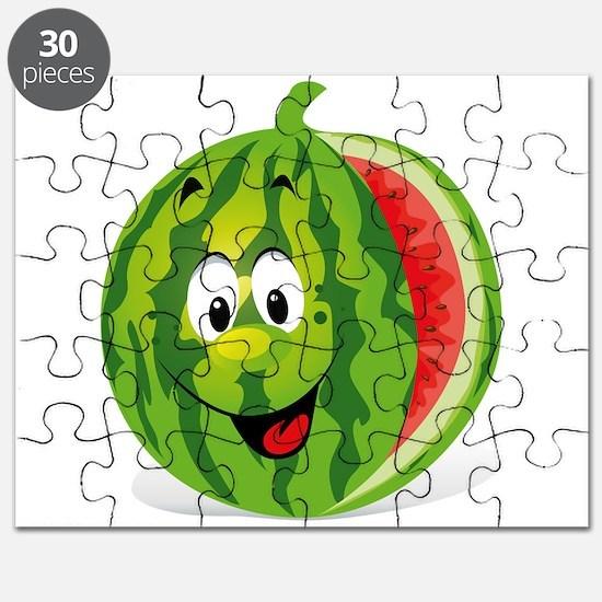 Cute Smiling Cartoon Watermelon Puzzle