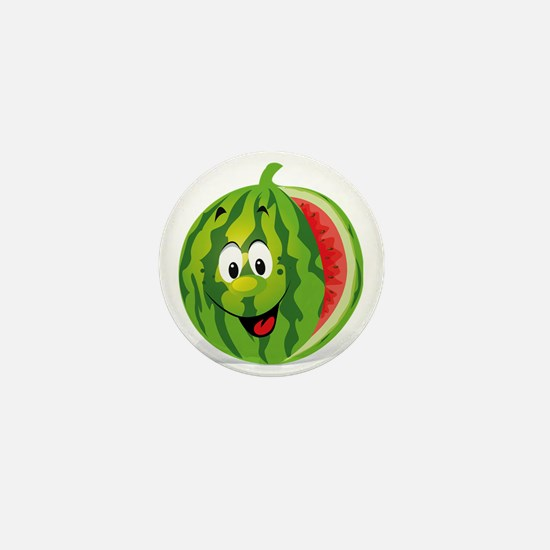 Cute Smiling Cartoon Watermelon Mini Button