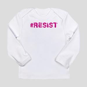 #RESIST Stamp Pink Long Sleeve T-Shirt