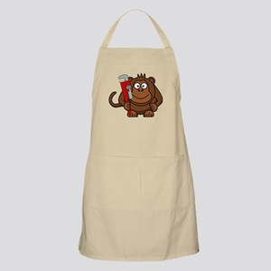 Cartoon Monkey With Wrench Apron