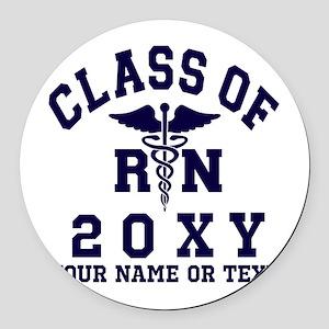 Class of 20?? Nursing (RN) Round Car Magnet