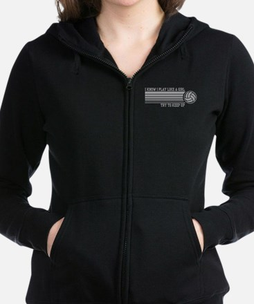 Play Like a Girl Volleyball Women's Zip Hoodie