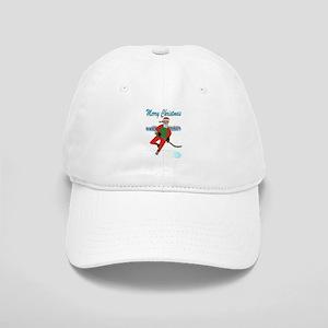 Hockey Santa Baseball Cap