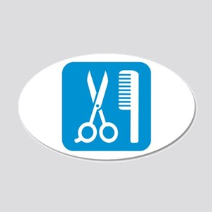 Scissors comb icon 20x12 Oval Wall Decal