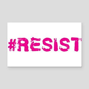 #RESIST Stamp Pink Rectangle Car Magnet
