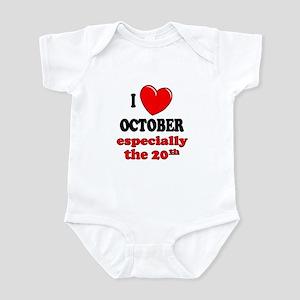 October 20th Infant Bodysuit
