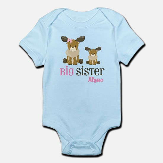 Big Sister Moose Personalized Body Suit