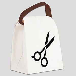 Hairdresser scissors Canvas Lunch Bag
