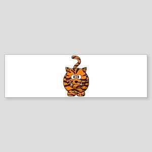 Cartoon Tiger Bumper Sticker