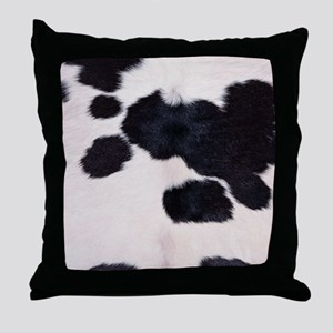 SPOTTED COW HIDE Throw Pillow