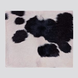 SPOTTED COW HIDE Throw Blanket