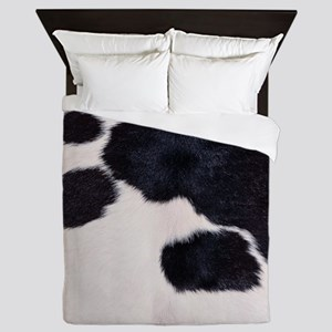 SPOTTED COW HIDE Queen Duvet