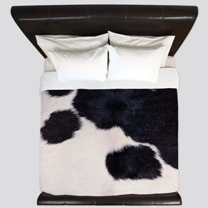 SPOTTED COW HIDE King Duvet