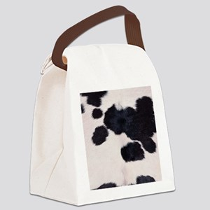 SPOTTED COW HIDE Canvas Lunch Bag