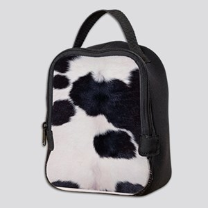 SPOTTED COW HIDE Neoprene Lunch Bag