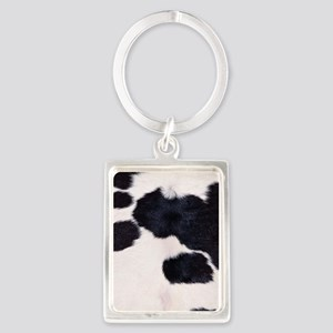 SPOTTED COW HIDE Portrait Keychain