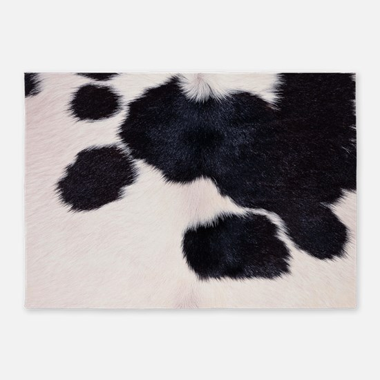 SPOTTED COW HIDE 5'x7'Area Rug
