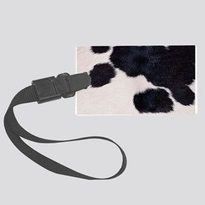 SPOTTED COW HIDE Large Luggage Tag