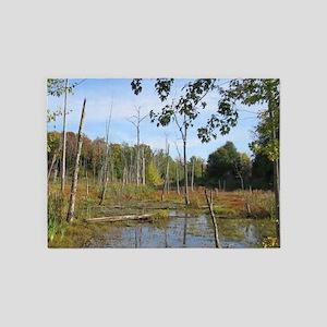 Swamp Scenery 5'x7'Area Rug