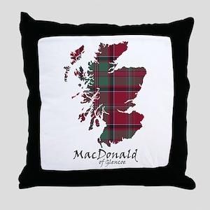 Map - MacDonald of Glencoe Throw Pillow