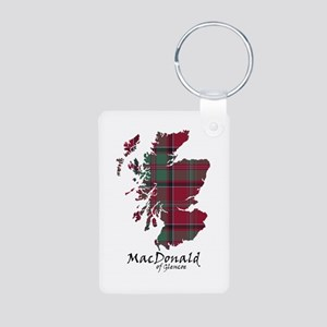 Map - MacDonald of Glencoe Aluminum Photo Keychain