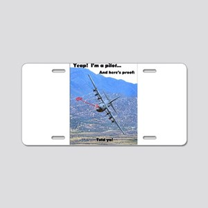 C-130 LOW LEVEL Aluminum License Plate