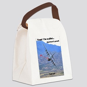 C-130 LOW LEVEL Canvas Lunch Bag