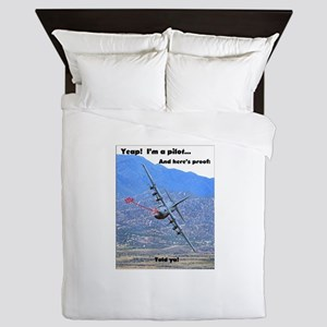 C-130 LOW LEVEL Queen Duvet