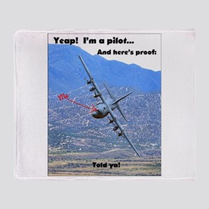 C-130 LOW LEVEL Throw Blanket