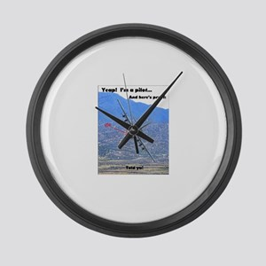 C-130 LOW LEVEL Large Wall Clock