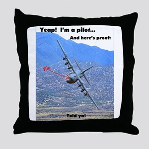 C-130 LOW LEVEL Throw Pillow