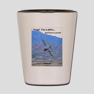 C-130 LOW LEVEL Shot Glass