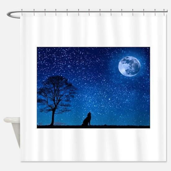 Cute Coyote Shower Curtain