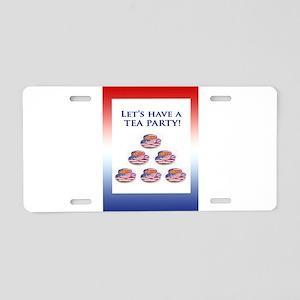 Let's Have a TEA PARTY Aluminum License Plate