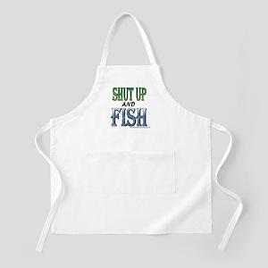 Shut Up and Fish BBQ Apron