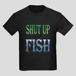 Shut Up and Fish Kids Dark T-Shirt