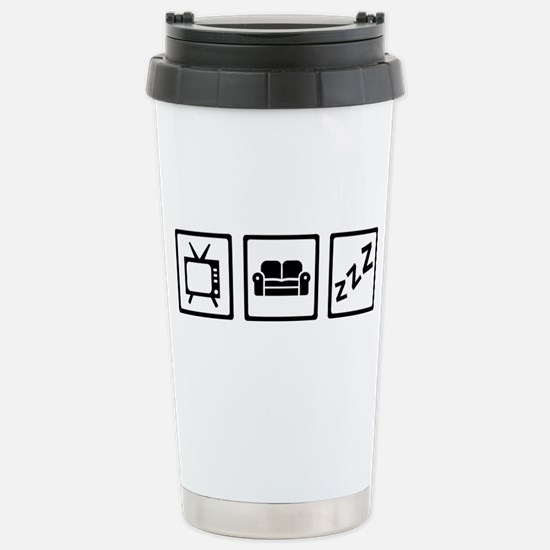 Relaxing couch televisi Stainless Steel Travel Mug