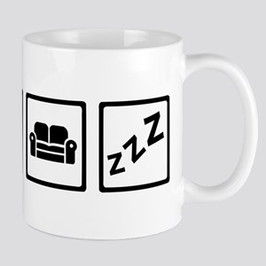Relaxing couch television snore Mug